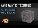Games - Hand Painted Texturing - Bricks Blocks