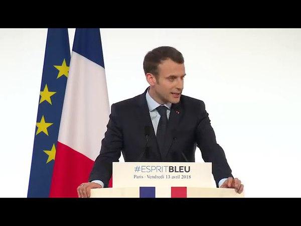 Emmanuel Macron | Réception des sportifs ayant participé aux Jeux de Pyeongchang 13.04.2018