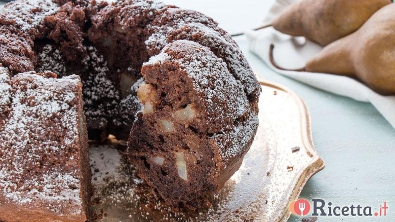 Ciambella alle pere e cioccolato - Ricetta.it