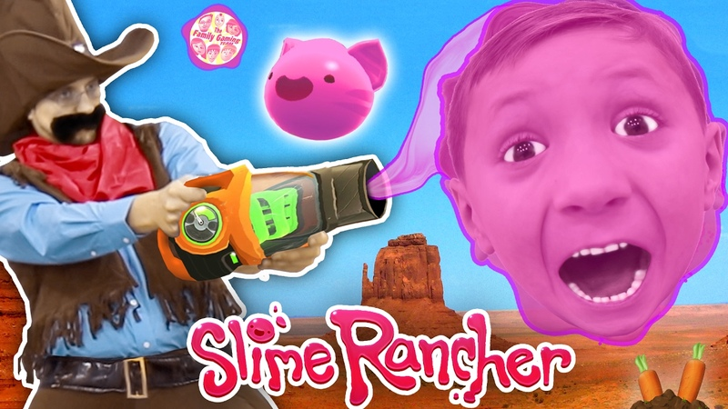 Gooey, Squishie Slime Monsters vs. FGTEEV Sheriff (Slime Rancher Farm Gameplay Skit)