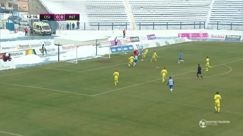 Osijek - Inter-Zapresic 6-0, Sazetak (1. HNL 201819, 18. kolo), 16.12.2018. Full HD