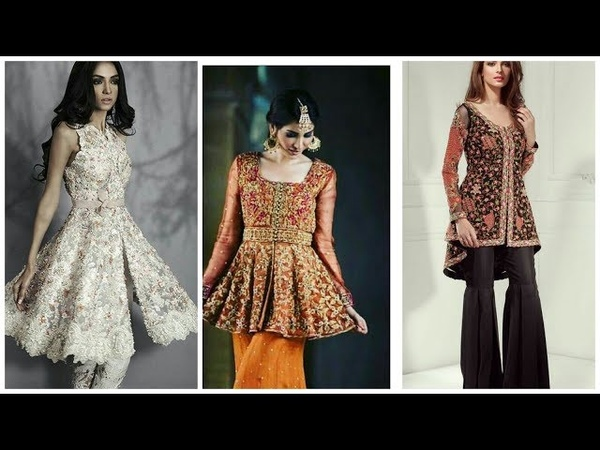 Latest Gown Style Open Short peplum Shirts Designs 2018 2019 Latest Fashion Trends