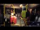 Поляки пиздят хохла в автобусе.На нахуй пидарас ебаный,это тебе за Бандеру!
