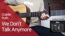 Charlie Puth - We Don't Talk Anymore 기타 코드 연주 (통단기 쉬운버전)