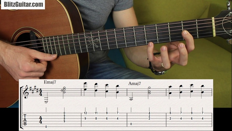 Sweet Chords that Sound Beautiful on Acoustic Guitar Melody in Octaves