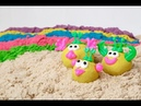 Даша готовит пирожные. Космический песок. Kinetic sand review. Играйте с Дашей на ТВ.