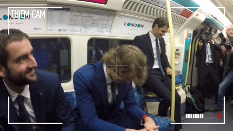 Player Cam: Travelling On London's Tube At Nitto ATP Finals 2018