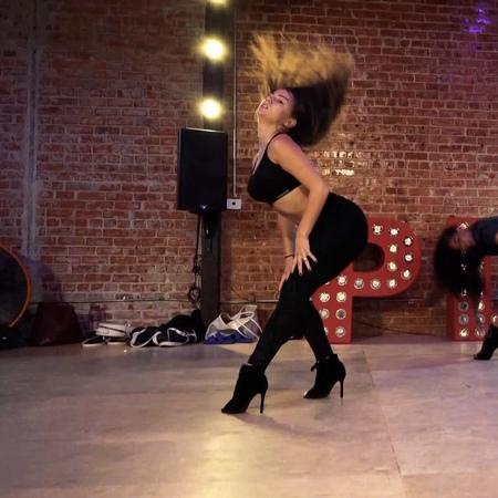 "POLINA GLEN on Instagram: ""Girls, stay feminine! Choreo and video: @ciscochoreography 💔 highhill dance playgroundla LA"""