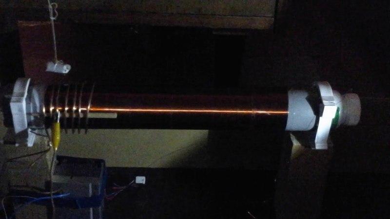 Выявление однополярного импульсного тока на индукторе качера магнитом
