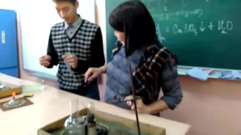 01.02.2019 г. Урок химии в 8 б классе