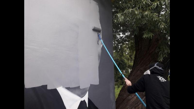 Черчесов никогда не будет прежним как восстановят граффити с изображением тренера ФАН ТВ