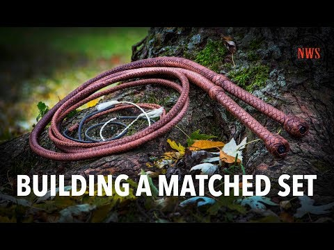 Building A Matched Set of Bullwhips | Nick's Whip Shop