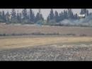 Сирия.21-04-2018.Поражение двух танков Т-55 из ПТРК TOW в Растанском котле,провинция Хомс