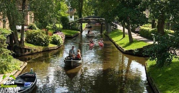 Сказочные пейзажи голландской деревни