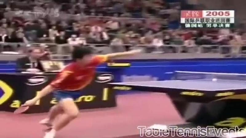 Ma Long (16 years old) Vs Vladimir Samsonov_ Final [German Open 2005]