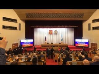 Речь Радия Хабирова на официальном представлении депутатам Курултая