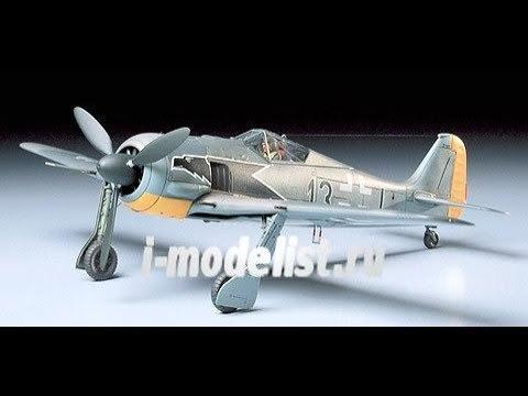 Обзор содержимого коробки сборной масштабной модели фирмы Tamiya: Focke-Wulf Fw190 A-3, в масштабе 1/48. Автор и ведущий: Дмитрий Гинзбург. www.i-modelist.ru/goods/model/tehnika/Takom/1275/35028.html
