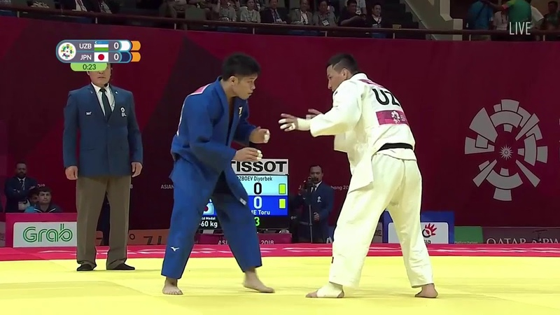 Urozboev Diyorbek UZB Shishime Toru JPN 1:0 -60kg Asian Games Jakarta Palembang 2018 Final