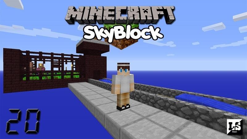 Minecraft: Skyblock 3 - 20 Ферма жителей? Вроде как.... Сейв мира