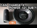 JBL Charge 4 - Can It Power a 12 Subwoofer?!