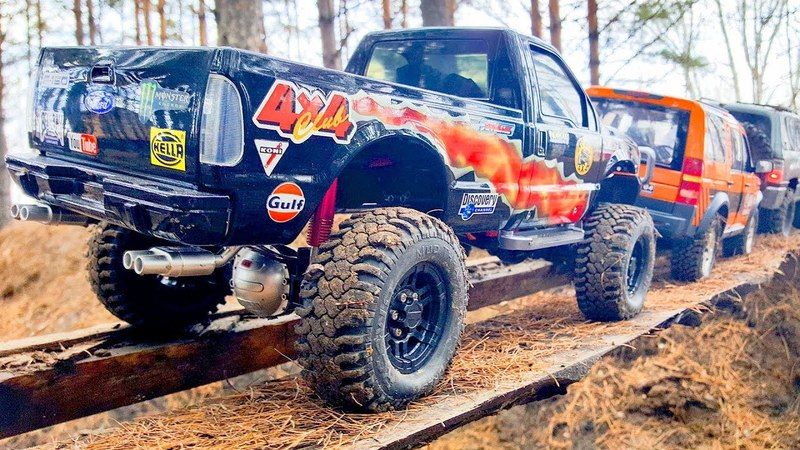 RC Cars OFF Road Adventure — Ford F 350, Mitsubishi Pajero Tamiya, Land Rover Discovery 3 MST CFX