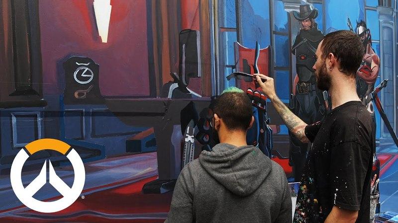 Overwatch Mural Timelapse   Melbourne, Australia