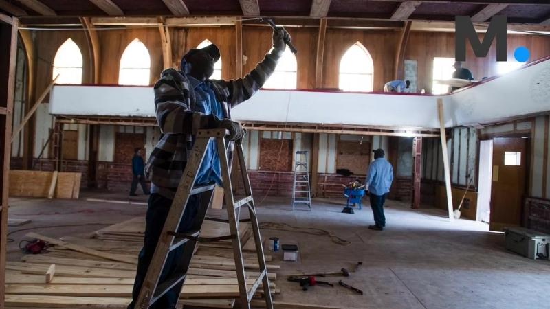 Renovation has begun on the historic Holt Street Baptist Church (720 HD)