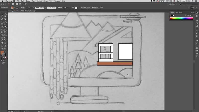 Мини-курс «Adobe Illustrator для новичков». Урок 3 - Обводка и заливка