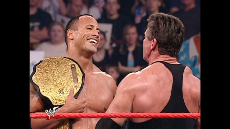 WWF Raw is War 3rd Decemcer 2001 - Vince McMahon Kurt Angle vs The Rock Trish Stratus