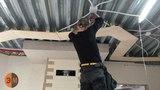 1 Этап Гостиная Многоуровневый натяжной потолок
