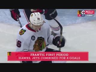 Матч «Чикаго» против «Виннипега» за 60 секунд
