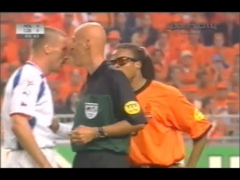 Collina legendary incidents vs Czech euro 2000 English commentary