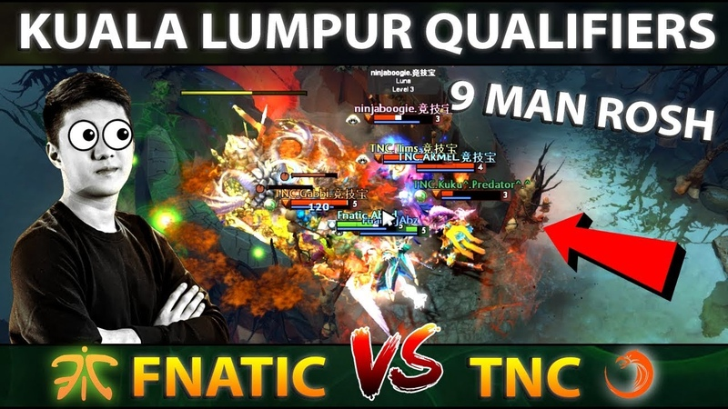 FNATIC vs TNC - LET'S GO ALL 9 MAN ROSH! - MOST WTF GAME! ALL MID? KL MAJOR DOTA 2