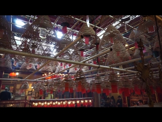 Внутри храма Ман Мо/Inside Man Mo Temple