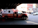 FDNY ambulances responding to different calls in Manhattan