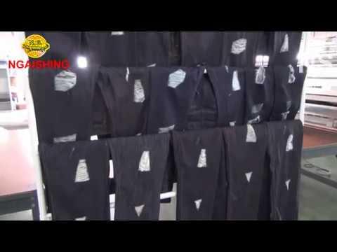 NGAI SHING NS 8635 Automatic Jeans Grinding Machine 20170624