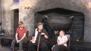 Q A With Domhnall Gleeson Robbie Coltrane and Warwick Davis from Harry Potter at Diagon Alley
