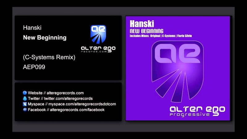 Hanski New Beginning C Systems Remix Alter Ego Progressive