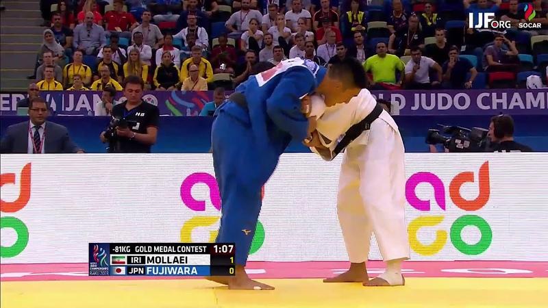 Saeid Mollaei IRI Sotaro Fujiwara JPN 1:0 -81kg JudoWorlds2018 Final
