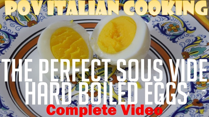 Make Perfect Hard Boiled Eggs using a Sous Vide POV Italian Cooking Special Episode