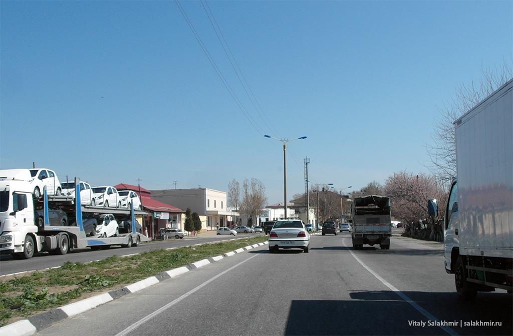 Дорога рядом с Самаркандом, маршрут до Ташкента 2019