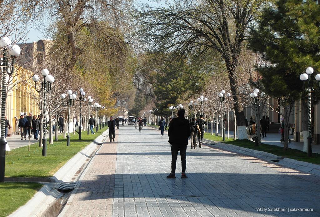 Теплая погода в Самарканде, Узбекистан 2019