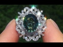 GIA Certified UNHEATED VVS1 Green Sapphire Diamond 18k Cocktail Engagement Ring - A141540