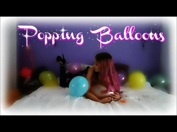 Girl Popping Balloons   ASMR