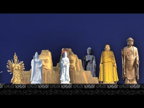 Size comparison of monumental statues of the World 2018