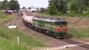 Тепловоз 2ТЭ10МК-3650 на ст. Мозырь / 2TE10MK-3650 at Mozyr station