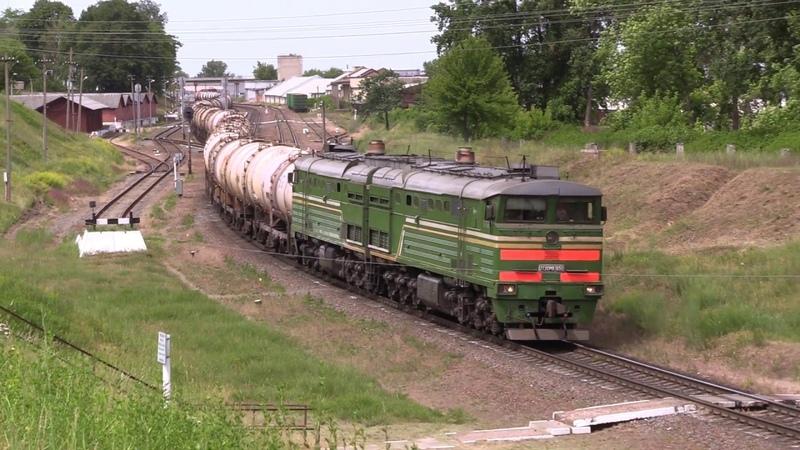 Тепловоз 2ТЭ10МК-3650 на ст. Мозырь 2TE10MK-3650 at Mozyr station