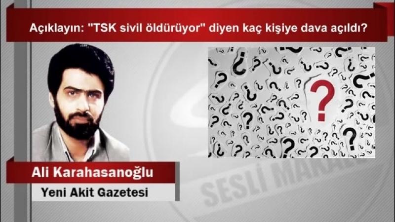 """(7) Ali Karahasanoğlu Açıklayın """"TSK sivil öldürüyor"""" diyen kaç kişiye dava açıldı - YouTube"""