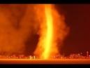 Огненное Торнадо на пляже Нидерланды Гаага Кадр Дня Frame of the Day
