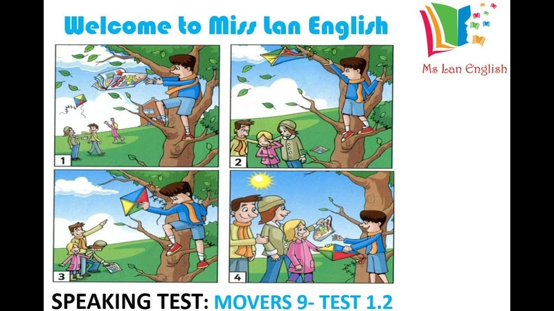SPEAKING TEST MOVERS 9- TEST 1.2